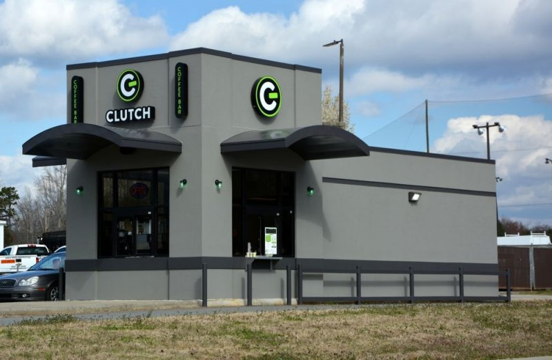 Clutch Coffee Bar of Mooresville, NC - Building Signage