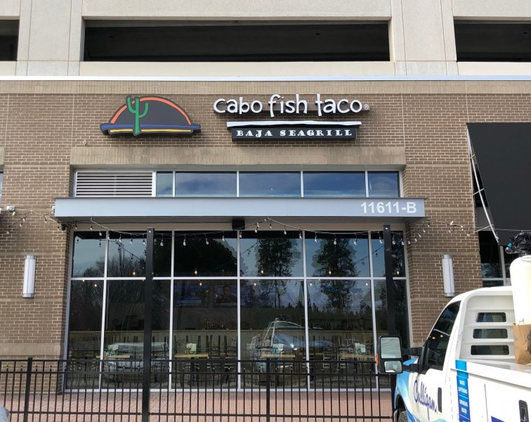 Cabo Fish Taco - Channel Letters & Logo Lightbox