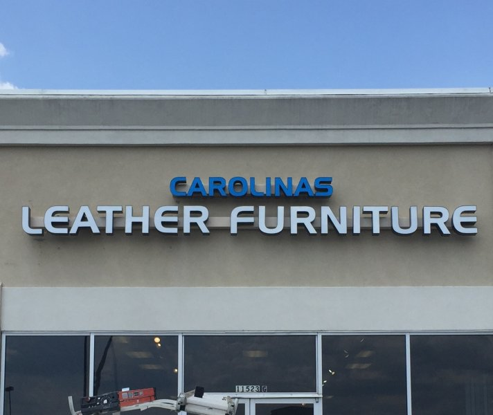 Carolinas Leather Furniture Exterior Channel Letter Sign