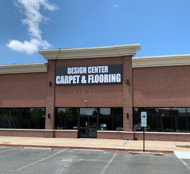 Design Center Carpet & Flooring - Channel Letters on a Cabinet
