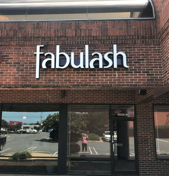 Fabulash of Charlotte - Channel Letter Sign