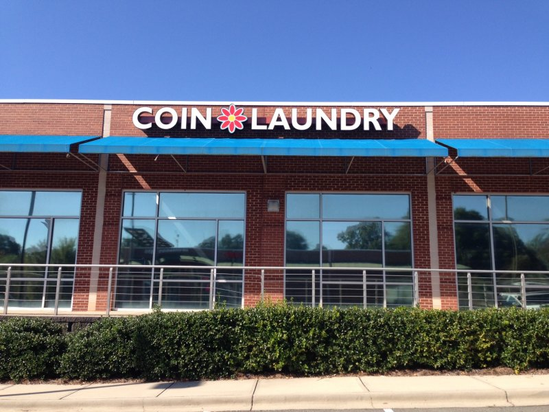 Channel Letter Sign - Coin Laundry in Charlotte, NC