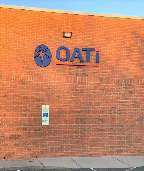 OATi of Indian Trail - Reverse Channel Letter Sign with Logo Graphic -- Non Illuminated