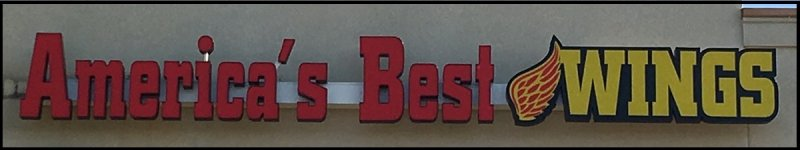 America's Best Wings - Channel Letter Sign with LED Illumination