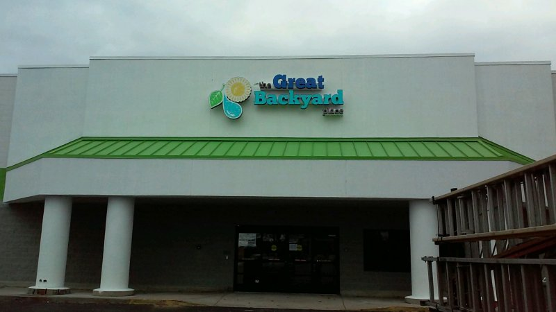 Channel Letter Sign for The Great Backyard Place - Matthew, North Carolina