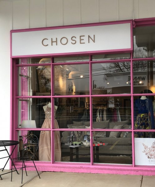 Chosen Womens Apparel -- Acrylic Letters on Aluminum Panel