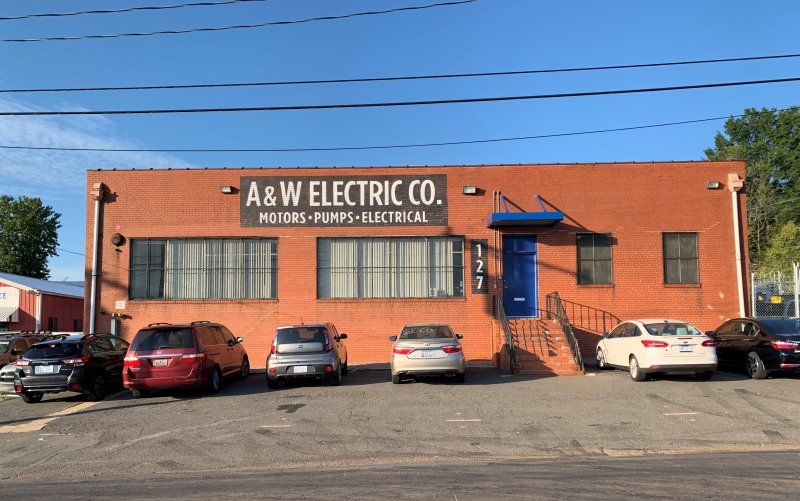 A&W Electric Co. of Charlotte -- Painted Sign