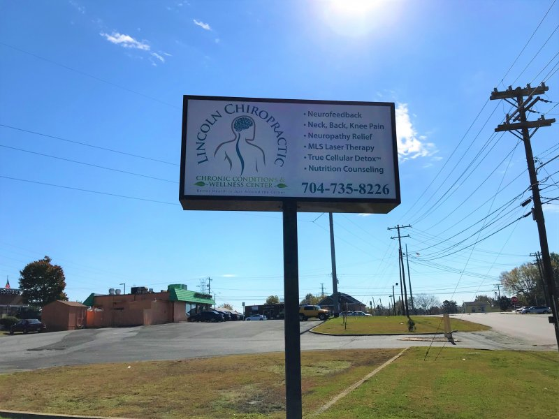 Lincoln Chiropractic of Lincolnton, NC - New Panels for Existing Pole Sign