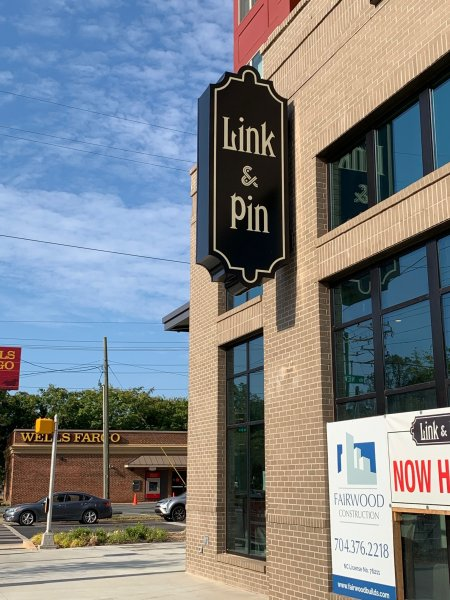 Custom Blade Sign by JC Signs -- for Link & Pin Restaurant