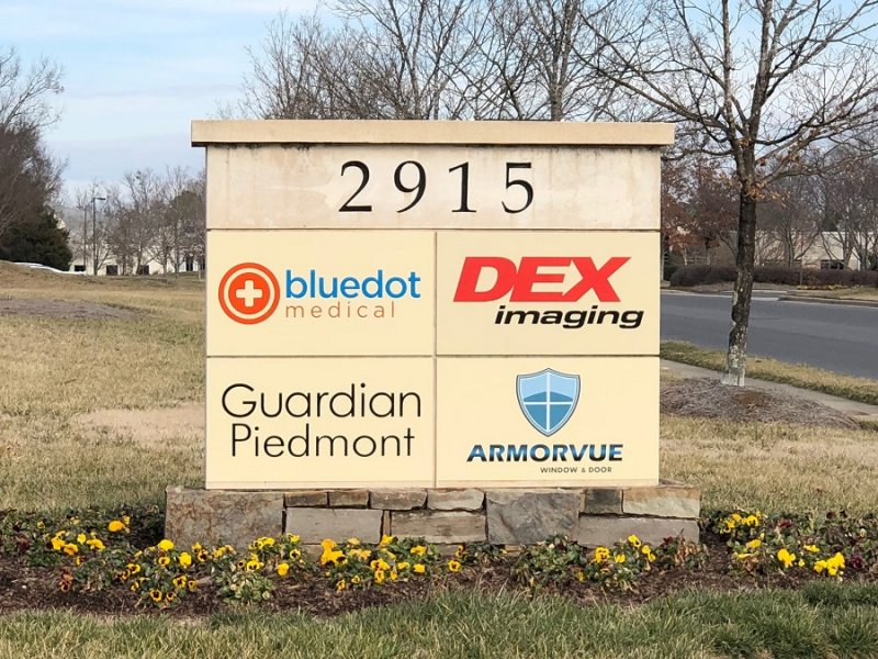 **Logo Only** Added to Existing Monument Sign - Armorvue of Charlotte