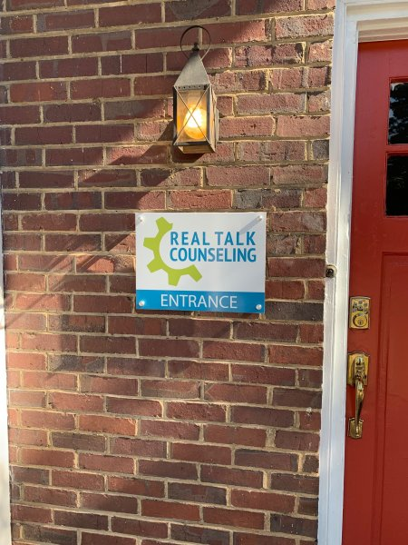 Main Entrance Sign - Real Talk Counseling of Charlotte