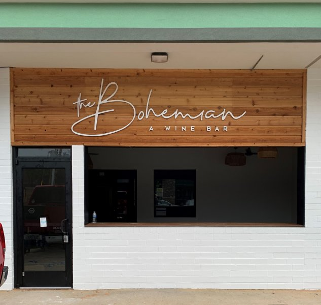 The Bohemian Wine Bar -- Exterior Acrylic Letters
