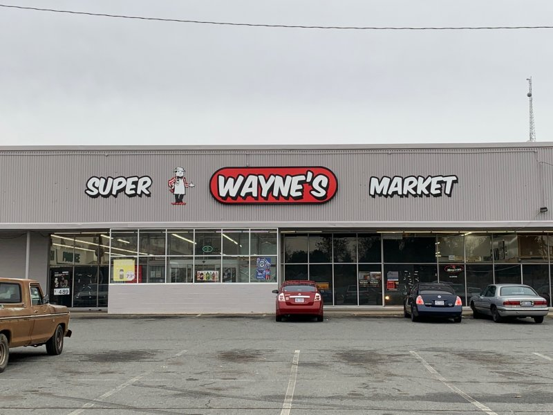 Wayne's Supermarket of Charlotte -- Exterior Wall Signage