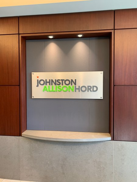 Johnston Allison & Hord Law – Interior and Exterior Signage