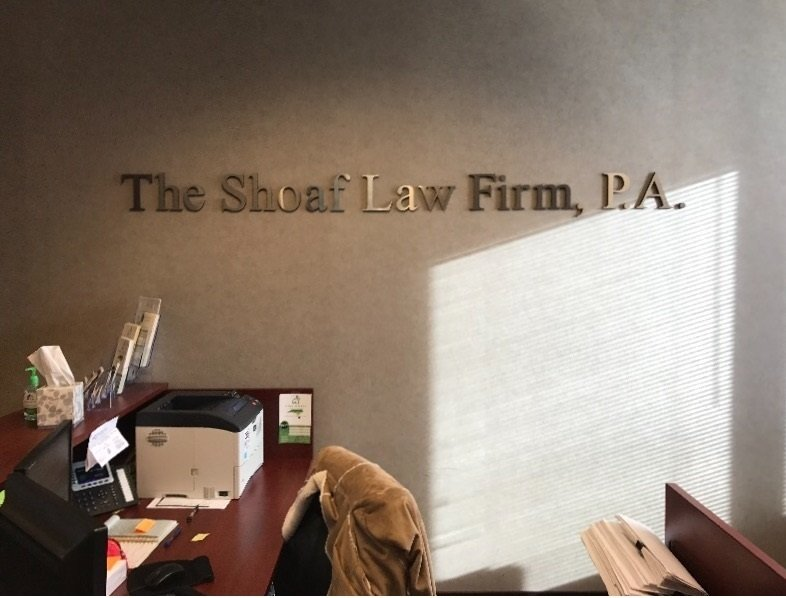 Shoaf Law Firm - Feature Wall Sign