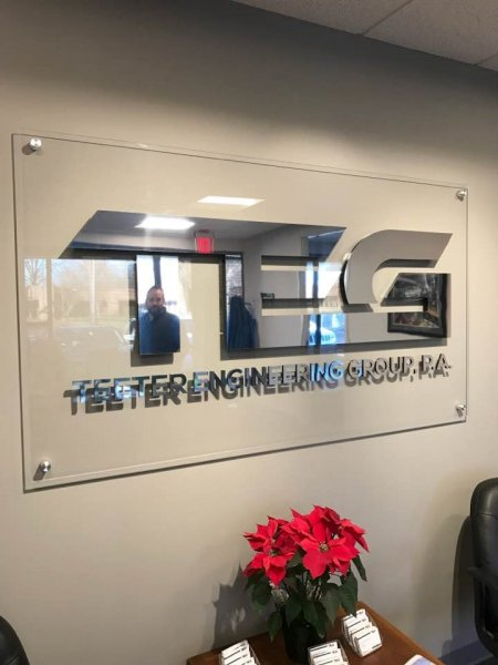 Teeter Engineering - Interior Feature Wall Sign
