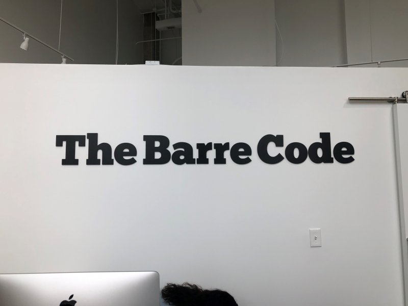 The Barre Code of Charlotte -- Interior Feature Wall Sign