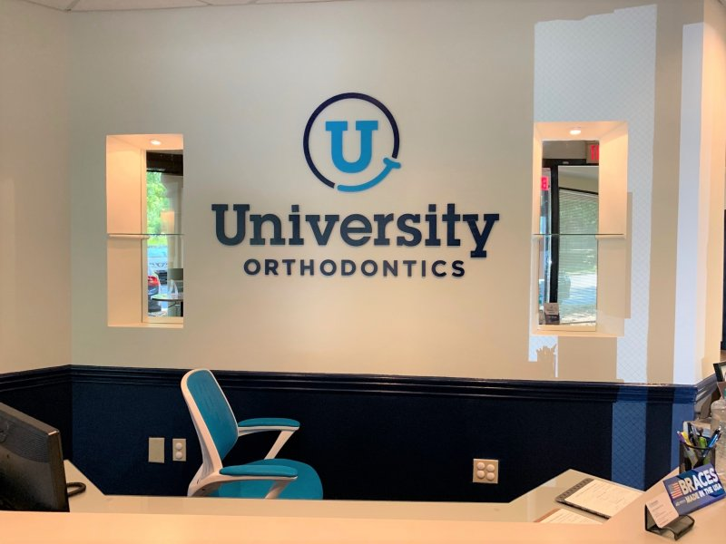 University Orthodontics - - Interior Feature Wall Sign