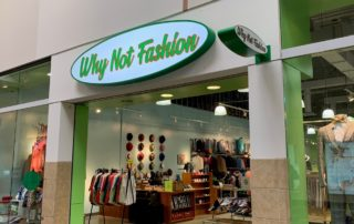 Why Not Fashion of Concord Mills Mall -- Interior Mall Store Signage