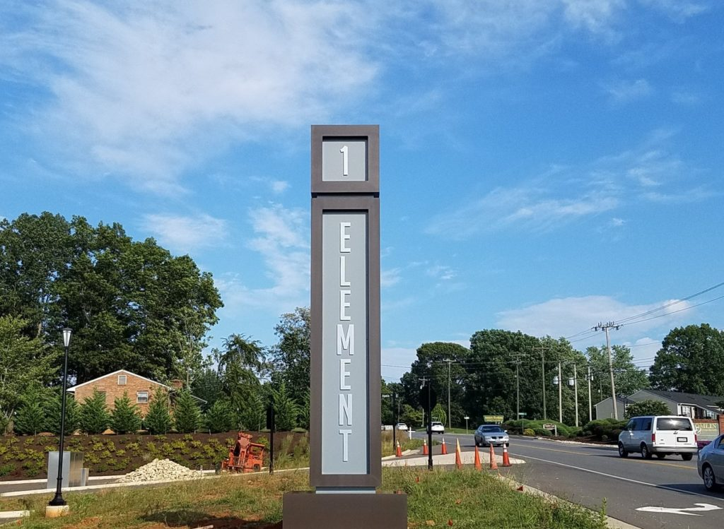 Custom Made Pylon Sign – 1 Element Apartment Homes