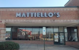 Channel Letter Sign for Mattiello's Restaurant of Denver, NC