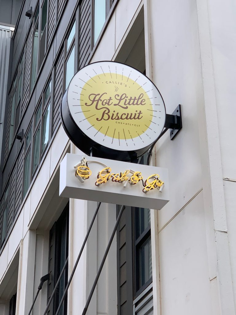 Custom Blade Sign for Callie's Hot Little Biscuit of Charlotte