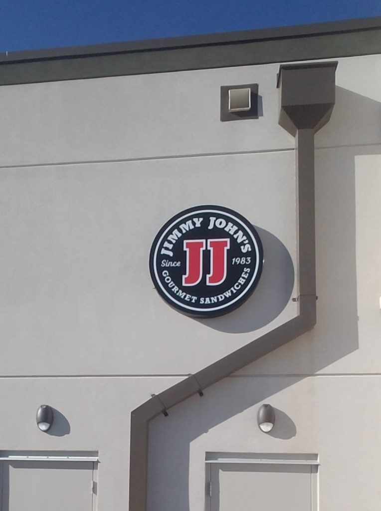 Jimmy John's Round Light Box Sign
