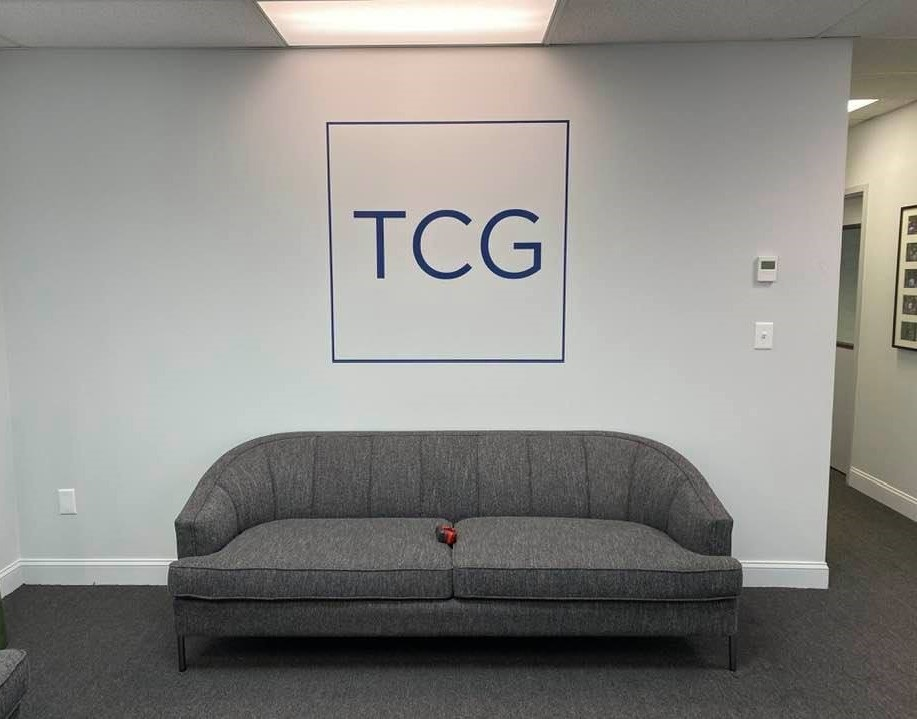 TCG Consulting - Logo on Wall with Vinyl