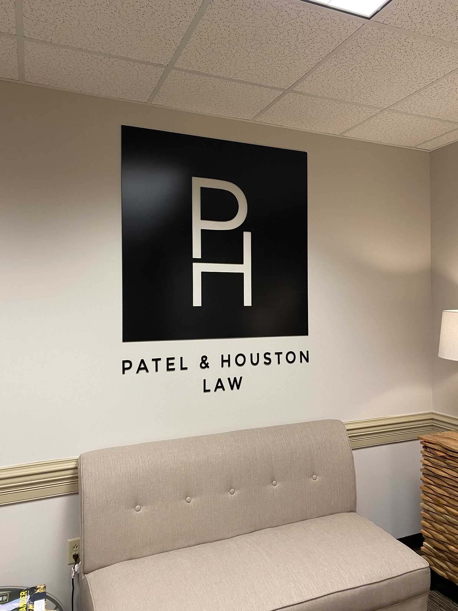 Custom Office Signage for Patel & Houston Law Offices